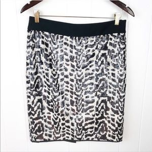 ❤️The Limited•Sequin animal print pencil skirt 6